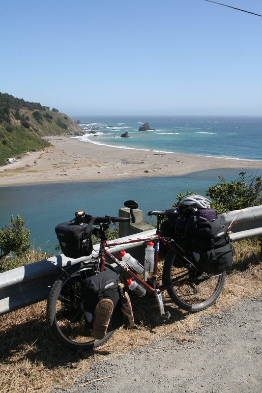 Cycle touring on the California coast