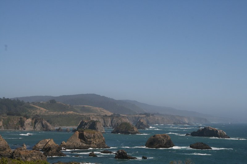 cycle touring on highway 1 in california