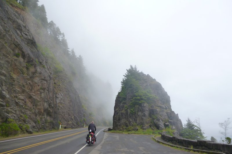 cycling in the rain on the pacific coast oregon