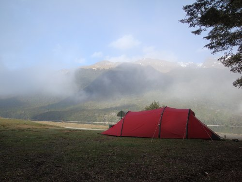 cycle touring in New Zealand, camping and wild camping on DoC sites