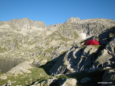wild camping in france at 2400m