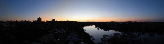 brisbane pano in the morning